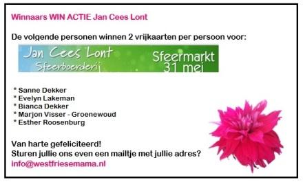 winnaars actie Jan Cees Lont